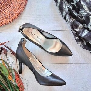 New Black Pumps with Zipper Size 7